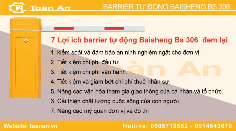 7 lợi ích barrier tự động baisheng bs 306 đem lại