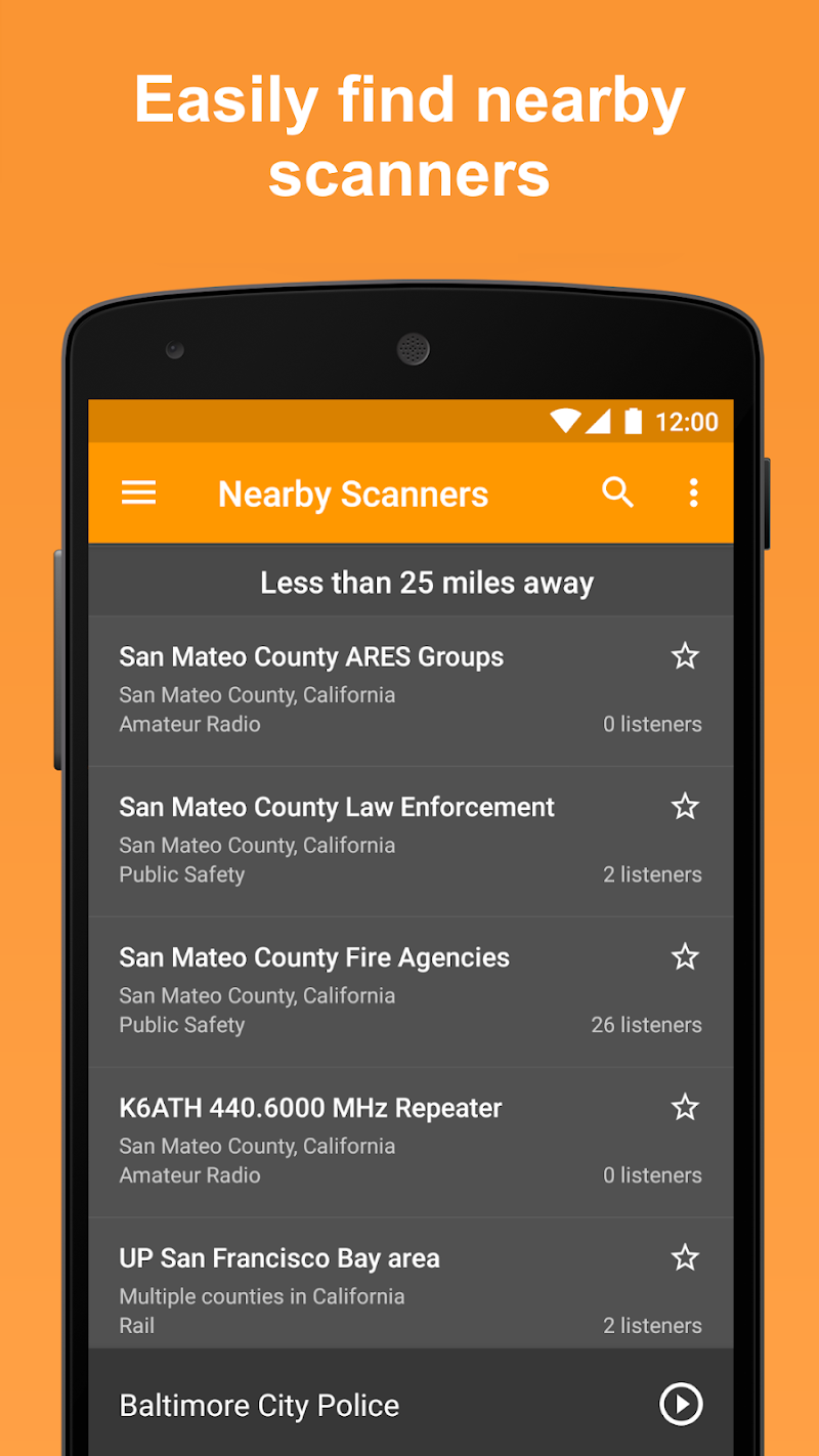 Scanner Radio Pro - Fire and Police Scanner Screenshot 1