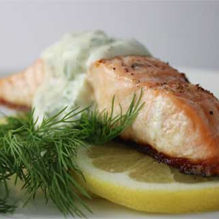 Salmon with Dill and Dijon Sauce