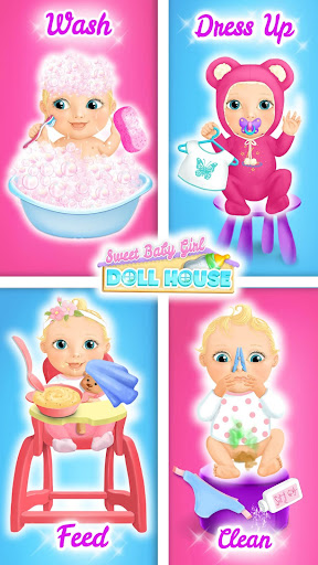 Sweet Baby Girl Doll House - Play, Care & Bed Time  screenshots 2