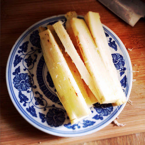 How, Eat, Sugarcane, raw, prepare, 吃, 甘蔗