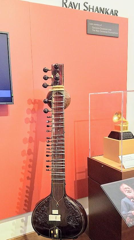 Music Instrument Museum (MIM) exhibit on contemporary music icons included Ravi Shankar