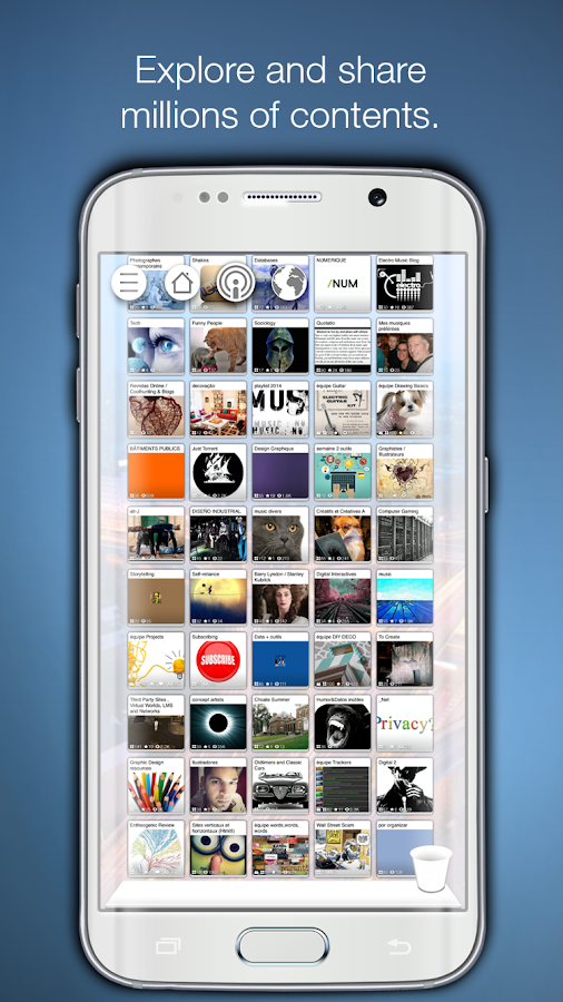 Pearltrees-organizeanything - screenshot