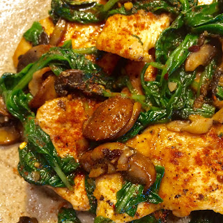 Smoked Paprika Chicken with Baby Spinach & Shrooms