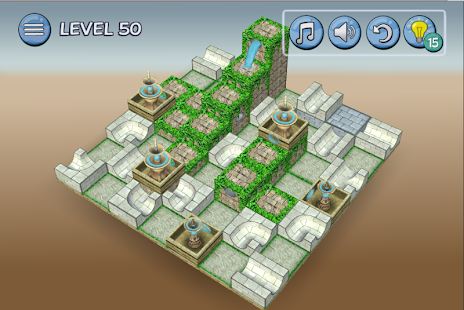 Flow Water Fountain 3D Puzzle - Wasserfontäne Screenshot