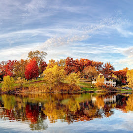 Fall Colors in Illinois by Stephen Burroughs - City,  Street & Park  City Parks ( fall leaves, foliage, fall colors, fall, illinois,  )