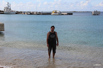 Photo: Lucas LU1FAM debutando en el Mar Caribe