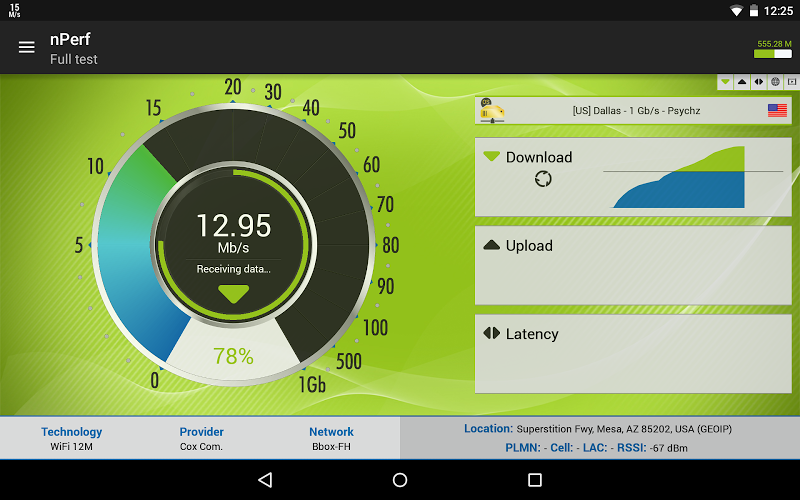 Speed test 3G, 4G LTE, WiFi & network coverage map Screenshot 12