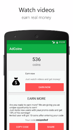 AdCoins: make cash now