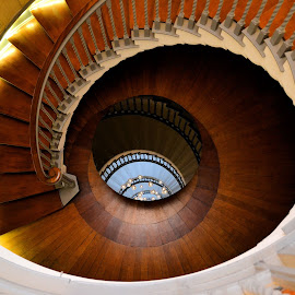Stairs and mirror by Heather Aplin - Buildings & Architecture Architectural Detail (  )