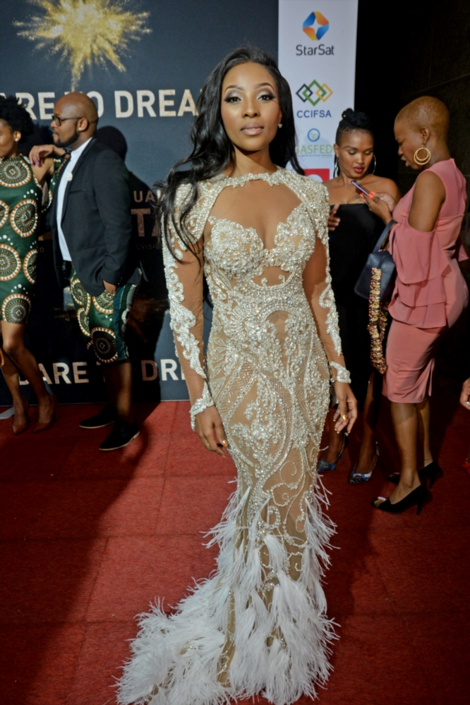 Pearl Modiadie during the 13th annual South African Film and Television Awards (SAFTAs) at the Sun City Superbowl on March 02, 2019 in Rustenburg, South Africa.