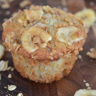 Nut Free Banana Crunch Muffins