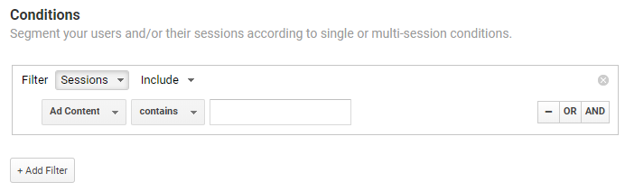 Condition dimension in Google Analytics