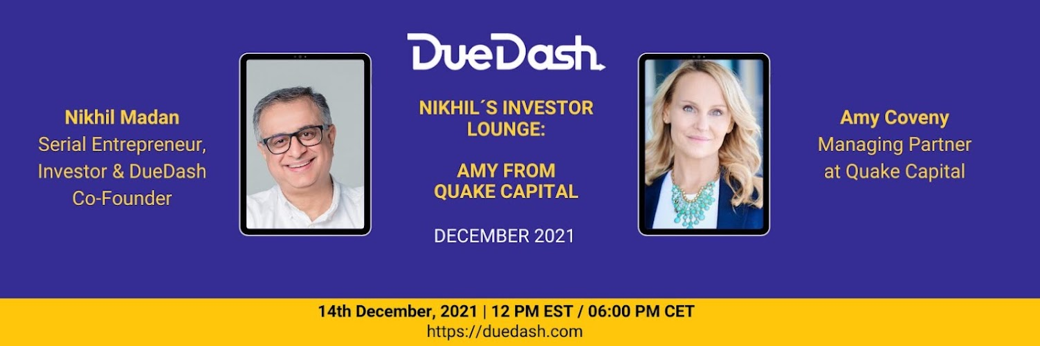 Nikhil's Investor Lounge: Amy from Quake Capital