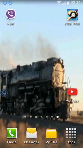 Silver Steam Train Wallpaper