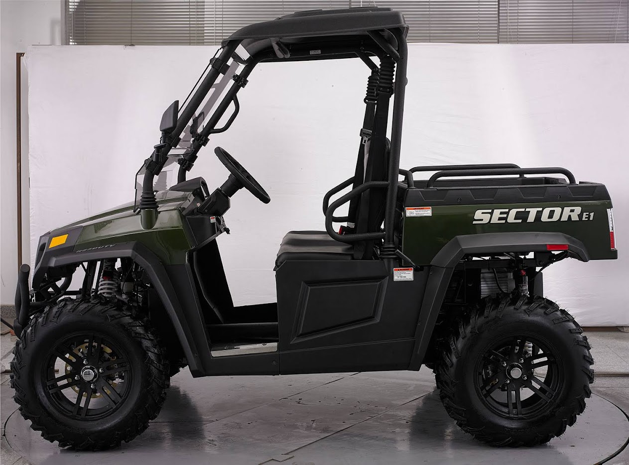 Electric 48 Volt Battery Operated E1 sector farm ute vector utv crossfire hisun HS450UTV agricultural machinery sale cheap offroad 4wd 4x4