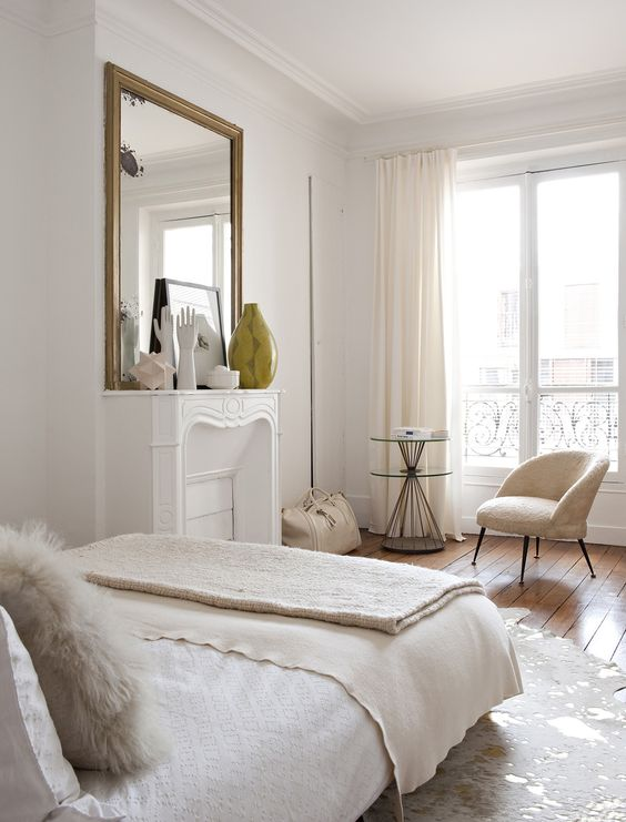 Place a Reading Chair in White Bedroom