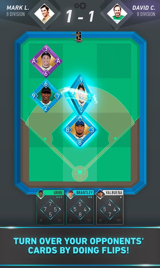 Flip Baseball: card game- screenshot