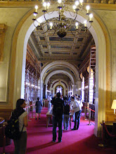 Photo: The main reading room of the Senate Library includes decorative elements by renowned French artists, including Reisener Louis Antoine, Camille Roqueplan, Eugène Delacroix, and Pierre-Charles Simart.