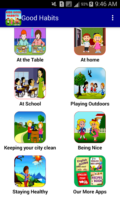 good habits for kids android apps on google play good habits for kids screenshot