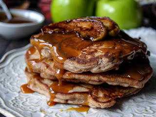 Apple Pie Pancakes W/ Caramel Bourbon Glaze Recipe