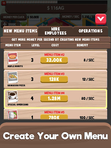 Idle Cafe Tycoon - My Own Clicker Tap Coffee Shop  captures d'écran 2