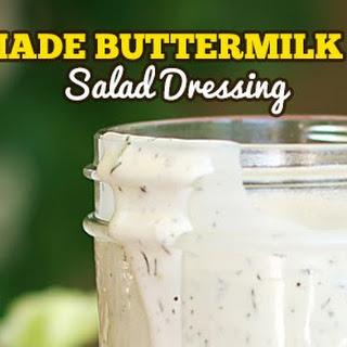 Homemade Buttermilk Ranch Salad Dressing.