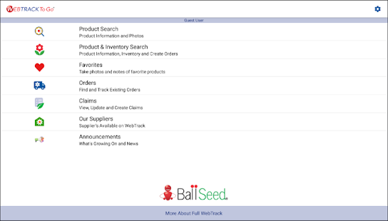 Ball Seed WebTrack To Go- screenshot thumbnail