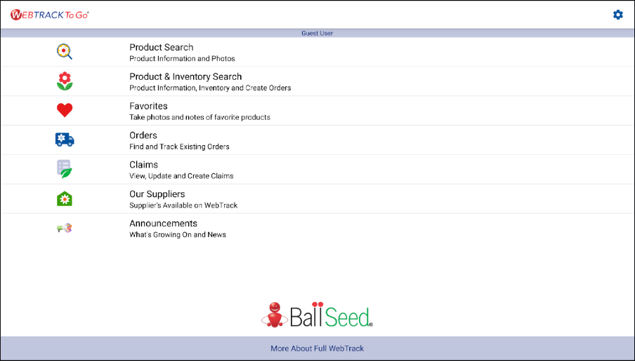 Ball Seed WebTrack To Go- screenshot