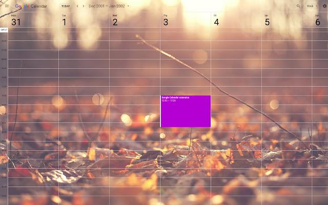 custom calendar background chrome web store