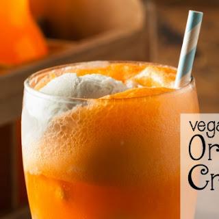 Vegan Orange Creamsicle Float
