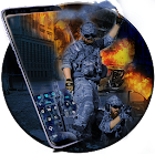 Blue Navy Camouflage Keyboard icon