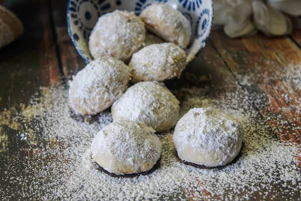 Snowballs (russian Tea Cakes) Covered In Powdered Sugar.