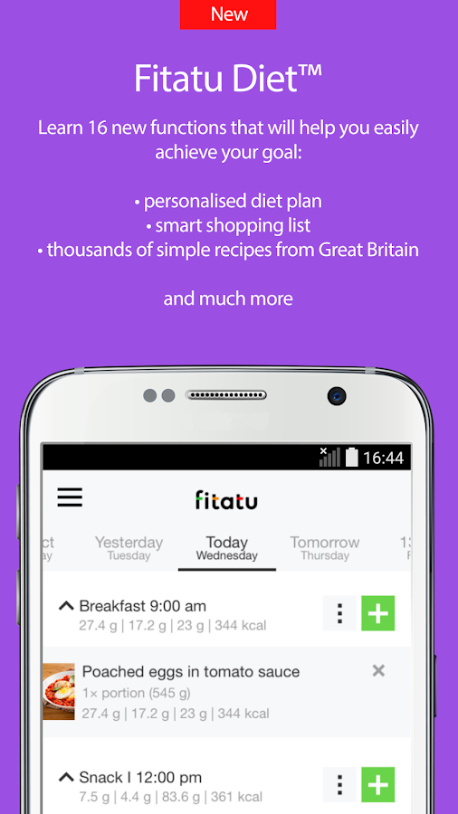 Fitatu Calorie Counter and Diet- screenshot