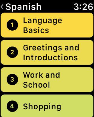 Rosetta Stone companion app on Apple Watch - Rosetta Stone