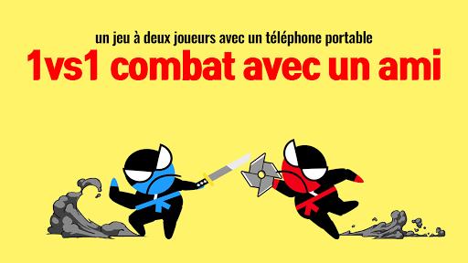 Télécharger Gratuit sauter bataille Ninja- 2 joueurs avec des amis APK MOD (Astuce) screenshots 1