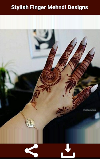 Stylish Finger Mehndi Designs