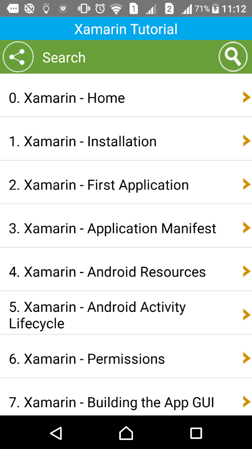 Learn Xamarin- screenshot