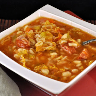 Sausage, Cabbage and Barley Soup.