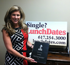Photo: Jill Vandor of Lunch Dates in Brighton, MA celebrating 25 years as an Accredited Business