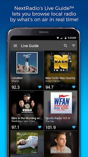 NextRadio Free Live FM Radio 6.0.2492-release screenshots 1