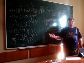 Photo: July 20, 2015, Oleg Gutik, On the structure of the semigroup of co-finite momotone partial homeomorphisms of the real line