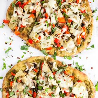 Mediterranean Veggie Naan Pizza.
