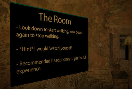VR Horror 'The Room' Demo