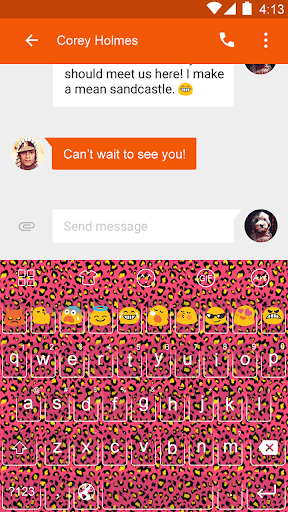 Leopard Theme -Emoji Keyboard