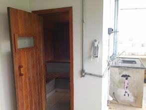 Photo: Entrada da sauna