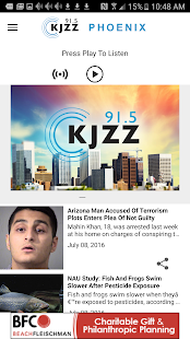 KJZZ Phoenix- screenshot thumbnail