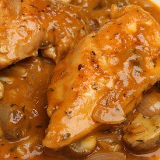 Sauteed Chicken With Mushrooms And Garlic