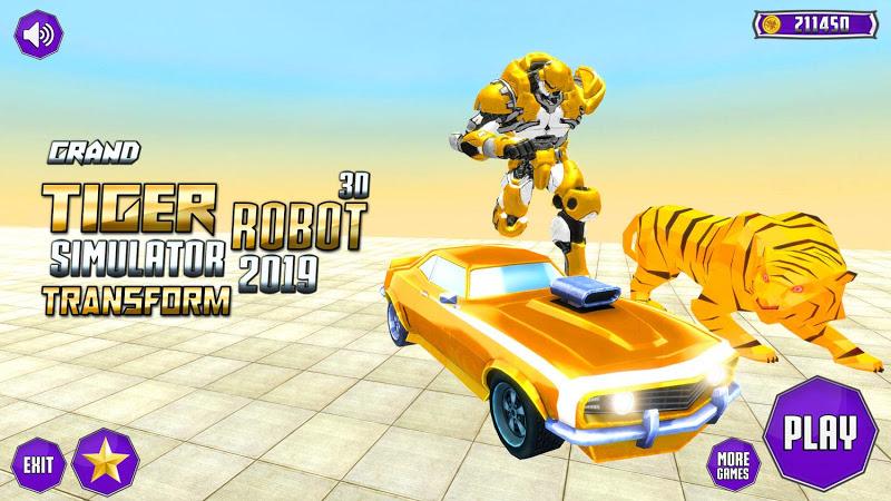 Скриншот Grand Robot Transformation Tiger : Robot Car