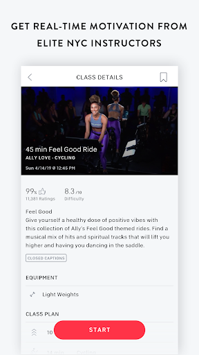 Screenshot for Peloton — Running, strength, HIIT & yoga classes in United States Play Store